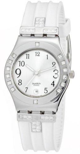 Swatch Fancy Me mujer color blanco & plata cristal acero inoxidable Set–Reloj YLS430