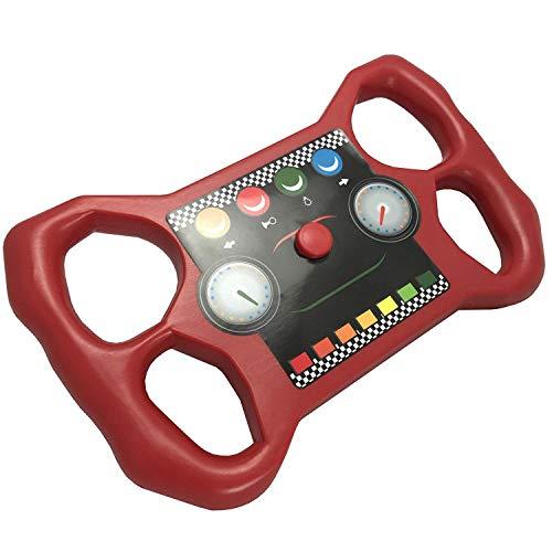 TikTakToo Renn-Lenkrad für Spieltürme und Abenteuerbetten, rot/schwarz