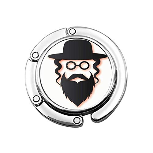Geldbörse Kleiderbügel Geldbörse Haken Männer in der traditionellen orthodoxen Juden Hut Schnurrbart Brille Seitenschlösser und Bart Mann Israel Menschen
