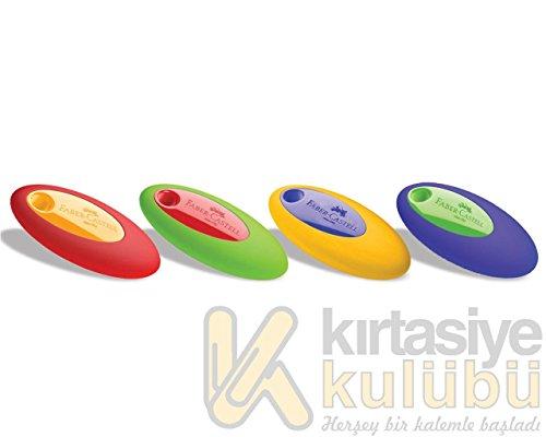 Faber Castell Gomme Ovali Ergonomiche A Colori Assortiti-Espositore da 24, Multicolore, 9555684642394