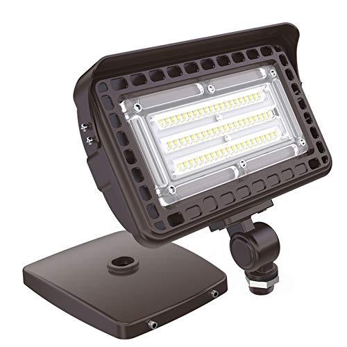 HYPERLITE 15W LED Flood Light Outdoor with Knuckle Mount, Wall Mount 1,800Lm 5000K Daylight IP65 Waterproof Landscape Lighting 100-277V UL-Listed 5 Years Warranty