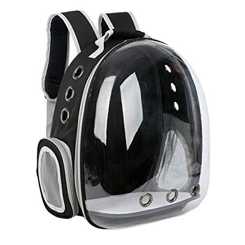 Watkings Rucksack für Reisen, Wandern, Camping und Haustiere, mit Luftblasen-Design, tragbar, für kleine und mittelgroße Katzen und Hunde blau