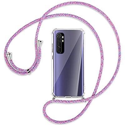mtb more energy® Collar Smartphone para Xiaomi Mi Note 10 Lite (6.47'') - Unicornio Morado - Funda Protectora ponible - Carcasa Anti Shock con Correa para Hombro