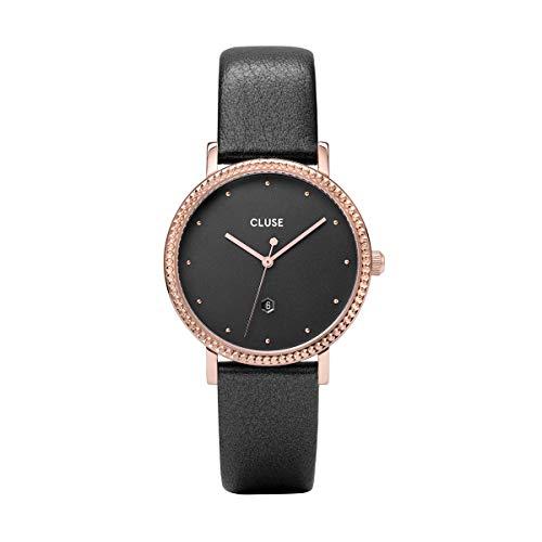 Cluse Damen Analog Quarz Uhr mit Leder Armband CW0101209007