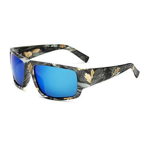 FJCY Gafas de Sol polarizadas Gafas de Sol paraHombre Gafas de Sol Retro de Camuflaje Deportivo Hombres Mujeres-6-Kp1028-C4