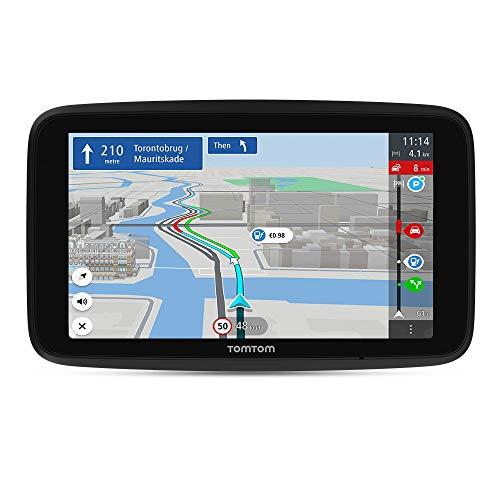 TomTom Navigationsgerät GO Discover (6 Zoll, Stauvermeidung dank TomTom Traffic, Karten-Updates Welt, schnelle Updates via WiFi, Verfügbarkeit von Parkplätzen, Kraftstoffpreise)