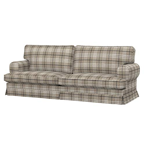 Soferia Funda de Repuesto para IKEA EKESKOG sofá Cama de 3 plazas, Tela Stewart Beige Master, Beige