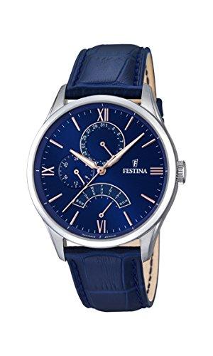 Festina Herren Analog Quarz Uhr mit Leder Armband F16823/3