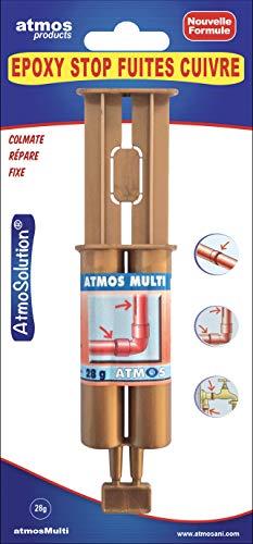 Atmos 1122 Soudure A Froid ÉPOXY Stop FUITES CUIVRE-28 GR-ATMOSMULTI, Cuivré/translucide