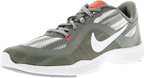 Nike Damen W Flex Trainer 6 Print Hallenschuhe, Grau (Tumbled Grey/White/deep Pewter), 37.5 EU