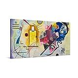 PICANOVA – Wassily Kandinsky – Yellow Red Blue 100x50cm – Quadro su Tela – Stampa Incorniciata con Spessore di 2cm Altre Dimensioni Disponibili Decorazione Moderna – Arte Classica