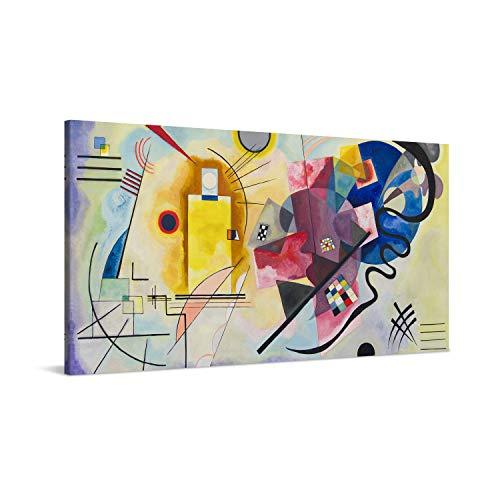 PICANOVA – Wassily Kandinsky – Yellow Red Blue 100x50cm – Cuadro sobre Lienzo – Impresión En Lienzo Montado sobre Marco De Madera (2cm) – Disponible En Varios Tamaños – Colección Arte Clásico