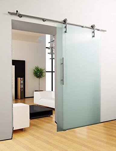 DURADOOR® Puerta corredera de cristal satinado de vidrio templado de 2050 mm x 1050 mm x 10 mm puerta de cristal esmerilado para habitaciones