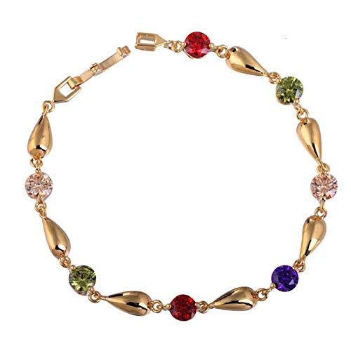 MLJSX armband ronde strass gouden ketting Dainty elegante bruiloft fijne sieraden Bangles voor vrouwen persoonlijkheid armbanden