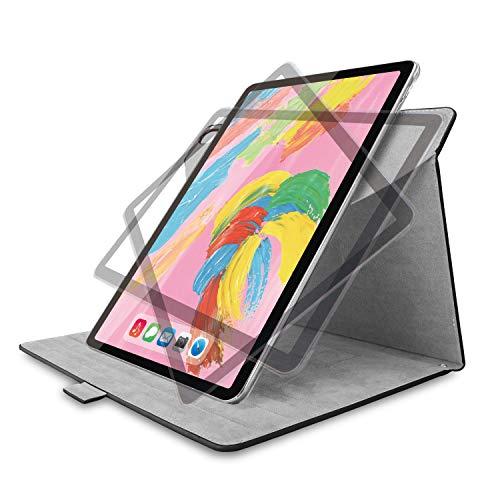 エレコム iPad Pro 11 (2018) ケース フラップカバー ソフトレザー 360度回転 ブラック TB-A18M360BK