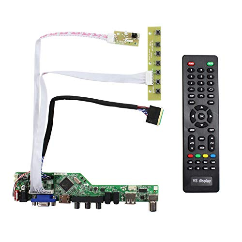 HDMI + VGA + AV + USB + RF Eingang LCD Controller Board für B156HW01 LP173WF1 15,6 '' 17,3 '' 1920x1080 40Pins LCD Panel