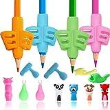 Agarre de Lápiz - Empuñaduras ergonómicas Adaptador Lapiz para Niños Herramienta de Corrección de Postura de Escritura para Lápices,Soporte de Lapiz Ayuda Escribir para Niños/Adultos (color)