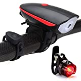 YEEWEN Sports Cyclisme Super Bright LED USB vélo vélo léger Rechargeable Phare et TaillightSet (Color : Red)