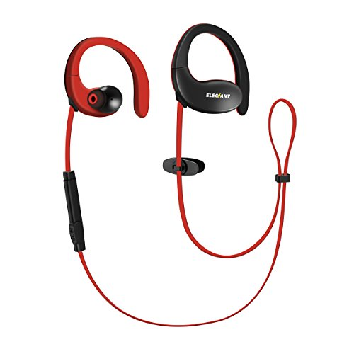 Bluetooth Headphones, ELEGIANT Sports Wireless Headphones Earbuds 4.1V with Mic AptX Stereo Headset CVC 6.0 Noise Cancelling IPX5 Waterproof 17H Playtime Earphones Secure Fit for Gym Running Workout