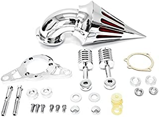 Krator Motorcycle Chrome Spike Air Cleaner Intake Filter For 2001-2007 Harley Softail Night Train Fat Boy Cros
