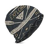 DJNGN Bonnet en Tricot Chaud Tricot Ski crâne Casquette Bonnet Kayak canoë Vintage étiquette Croquis crâne Casquette Bonnet