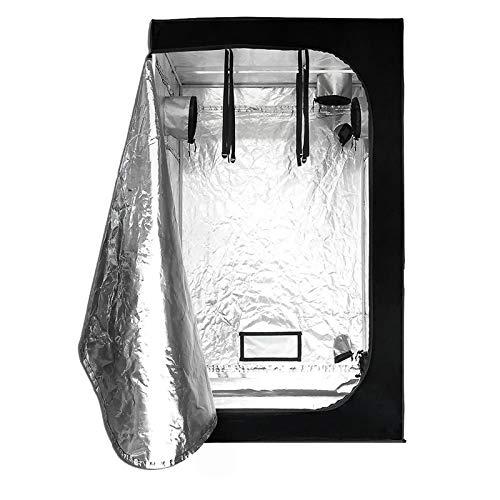 AGVER Armario Cultivo para Hidropónico Interior 80 X 80 X 160 Cm Grow Box De Cultivo para Jardín Hecho De Tela De Nailon Oxford 600D