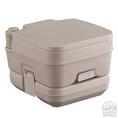 Portable 2.5 Gallon Tan Toilet