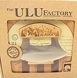 The ULU Factory Ulu Factory Alaska Ulu Birch Walnut Stripe Wood Chopping Bowl-Board Mountain Dipper Design Handle