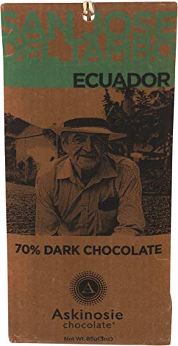 Askinosie, Dark Chocolate Ecuador Bar, 85 Gram
