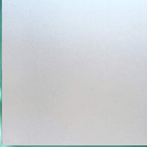 Lifetree Fensterfolie Milchglasfolie Sichtschutzfolie Selbstklebend Glasfolie Ohne Kleber Statische Haftung Blickdicht Fensterfolie für Zuhause Büro 30 * 200cm