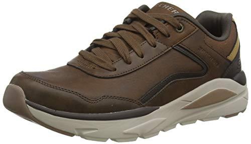 Skechers Verrado Crafton, Zapatillas para Hombre, Marrón (Dark Brown Leather Acdb), 47.5 EU