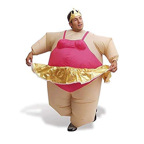 GZCP Opblaasbaar Kostuum Vet pak Ballerina Carnaval Carnaval