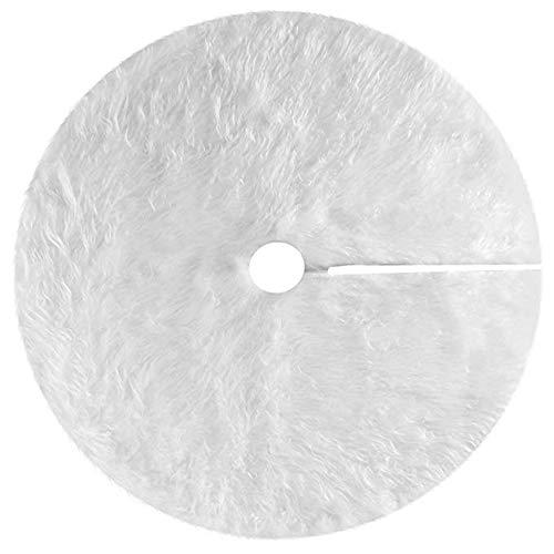 Kentop Jupe de Noël en peluche pour sapin de Noël Blanc Ø 122cm Weiss