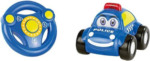 Playtastic Kinderauto: Ferngesteuertes Polizei-Auto mit echter Sirene (Ferngesteuertes Auto Kleinkind)