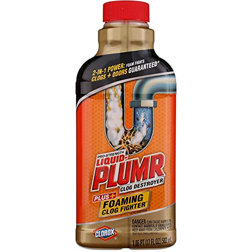 Liquid Plumber Clog Destroyer with Foaming Clog Fighter – 17 Ounces