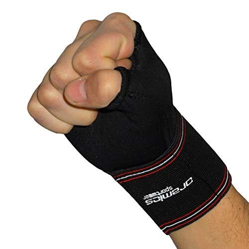 Oramics Sport 2er Set Handgelenkbandage für rechts und links - elastische Daumenbandage mit 6 cm Daumenumfang - optimale Genesung am Daumen und Handgelenk - entlastet Daumengelenk und Sattelgelenk