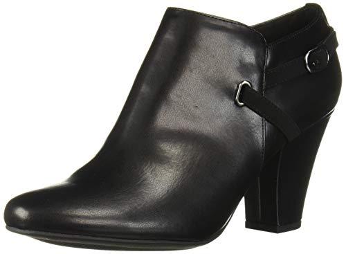 Easy Street Women's Freda Dress Shootie Ankle Boot, Black, 11 2W US