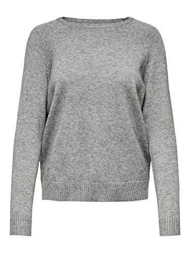 ONLY Female Strickpullover Einfarbiger MMedium Grey Melange