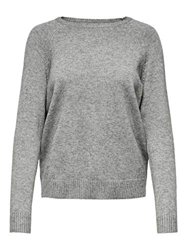 ONLY Female Strickpullover Einfarbiger MMedium Grey Melange