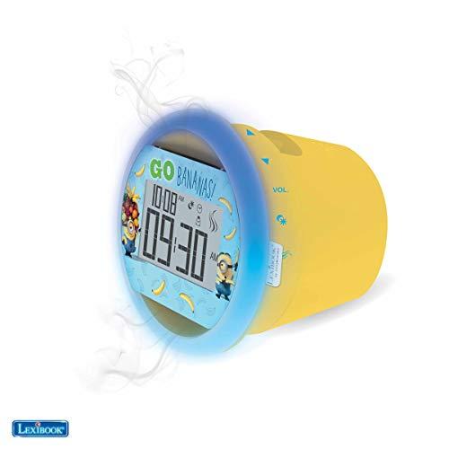 Lexibook by Sensorwake Universal Ich - Einfach Unverbesserlich Minions Duftuhr, Entspanntes Licht, FM Radio, batteriebetriebenes oder USB-Kabel, gelb / blau, CS100DES