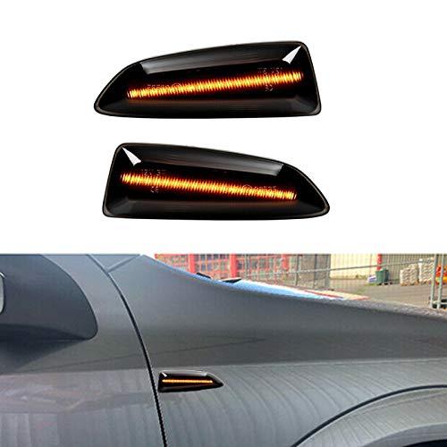 1 Paar Auto Seitenmarkierung Blinker für Astra Insignia Zafira Crossland Grandland, fließende LED Indikator mit Glühlampen