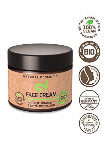 DUAL Face Cream |Crème Hydratante Visage Jour Nuit 100% Naturelle |Vitamine C, Source d'Acide...