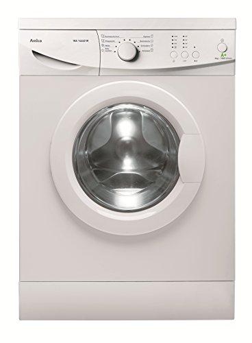 Amica WA 14640 W Waschmaschine FL/A+ / 196 kWh/Jahr / 1000 UpM / 6 kg / 9240 L/Jahr/Elektronisch mit 8 Haupt-Programmen / 2 Zusatzfunktionen Temperaturwahl + Schleuderwahl/weiß
