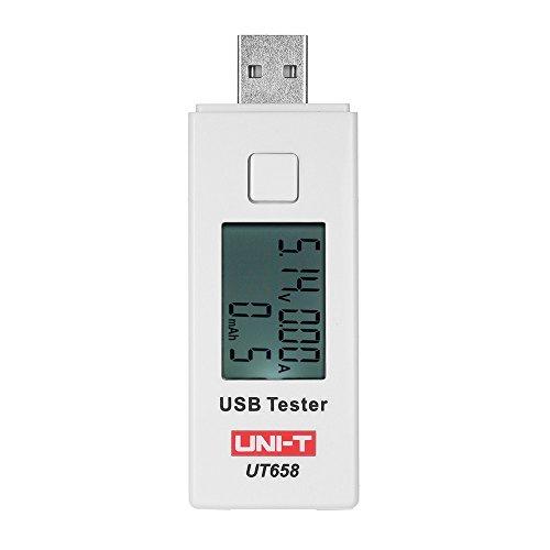 UNI-T UT658B USB LCD Digital Spannungsmessger/ät UDisk Multimeter Ameter Ladekapazit/ät Tester DC3~9 V 0~3,5A