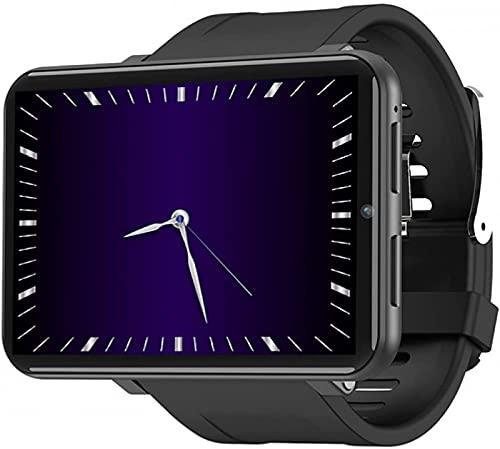 LLM Reloj Inteligente 4G Reloj Inteligente con Pantalla de 2,86 Pulgadas Android 7.1 1GB 16GB, 3GB 32GB Cámara de 5MP 480 * 640 resolución 2700mah batería Reloj Inteligente Masculino (B, 1GB 16GB)