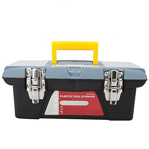 Phisscii Contenedor de Herramientas de reparación, Caja de Herramientas portátil con asa de Transporte Caja de Almacenamiento de Hardware Contenedor de Herramientas de reparación(G-T313)