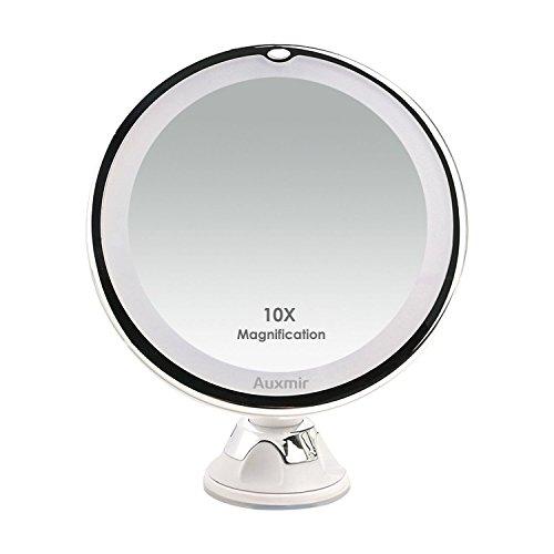 Auxmir Miroirs Grossissant x10 Miroir Maquillage...