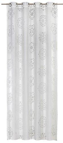Elbersdrucke Fertigdekoration, Polyester/ 50% Viskose, Offwhite, 255cm x 140cm