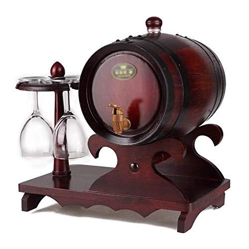 WJMLS La elaboración de Vino de Roble Americano envejecimiento Whisky Barrica Antigüedad su Propio Whisky, Cerveza, Vino, Tequila Bourbon Tamaño: 44 * 30 * 40cm, Color: Beige