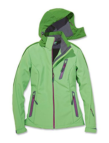 Damen Softshell Skijacke Ski Jacke Snowboardjacke grün Gr. S 36/38